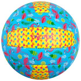 Мяч волейбольный, пляжный ONLITOP размер 5, 2 подслоя, 18 панелей, PVC, бутиловая камера, 275 г Ош