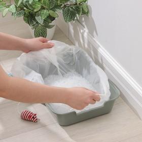 Пакеты для кошачьих лотков 50×25×30 см, ПНД, 10 шт Ош