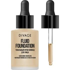 Тональный крем-флюид для лица Divage Fluid Foundation, № 01