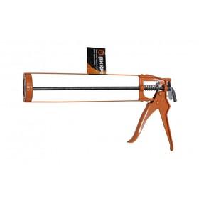 """Пистолет для герметика """"Вихрь"""" 73/3/6/1, скелетный, металлический, 310 мл"""