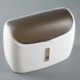 Диспенсер бумажных полотенец в листах 31×12,5×23,5 см, пластик, цвет белый/чёрный Ош