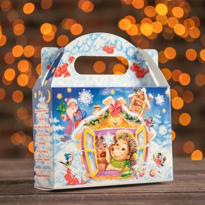 """Подарочная коробка """"Снежинки-Ежинки"""", снежинка, 18 х 5,6 х 12,5 см"""
