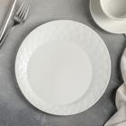 Тарелка десертная «Блик», 21×2 см, цвет белый