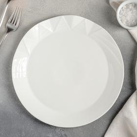 Тарелка обеденная «Идиллия», 25×2,5 см, цвет белый