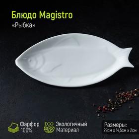 Блюдо Magistro «Рыбка», 29×14,5×2 см, цвет белый