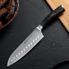Нож кухонный NADOBA DANA Сантоку, лезвие 17,5 см