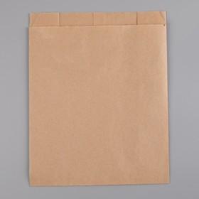 Пакет бумажный фасовочный, крафт, V-образное дно 25 х 20 х 9 см, Ош