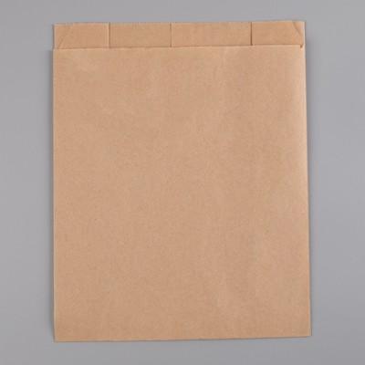 Пакет бумажный фасовочный, крафт, V-образное дно 25 х 20 х 9 см, - Фото 1
