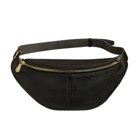 Поясная сумка, отдел на молнии, регулируемый ремень, цвет чёрный