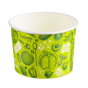 "Стакан креманка ""Зелёный"" 250 мл, верхний диаметр 93 мм"