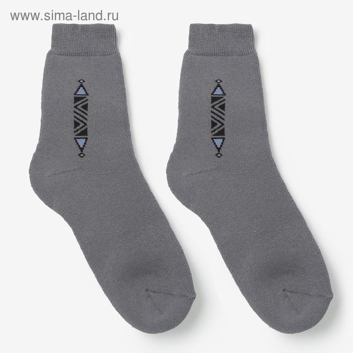 Носки женские махровые, цвет серый, размер 23-25