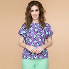 Блузка женская «Мятная звезда», размер 46, цвет фиолетовый, мятный