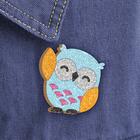 """Фреска, значок """"Голубая совушка"""" - Фото 1"""