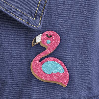 "Фреска, значок ""Розовый фламинго"" - Фото 1"