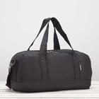 Сумка спортивная, отдел на молнии, наружный карман, цвет чёрный - Фото 2