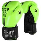 Перчатки боксёрские FIGHT EMPIRE, 12 унций, цвет салатовый