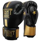 Перчатки боксёрские соревновательные FIGHT EMPIRE, 12 унций, цвет чёрный/золотой