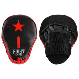 Лапа боксёрская FIGHT EMPIRE, 1 шт., цвет чёрный/красный