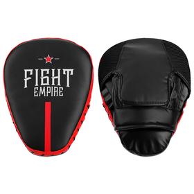 Лапа боксёрская FIGHT EMPIRE PRO, 1 шт., цвет чёрный/красный
