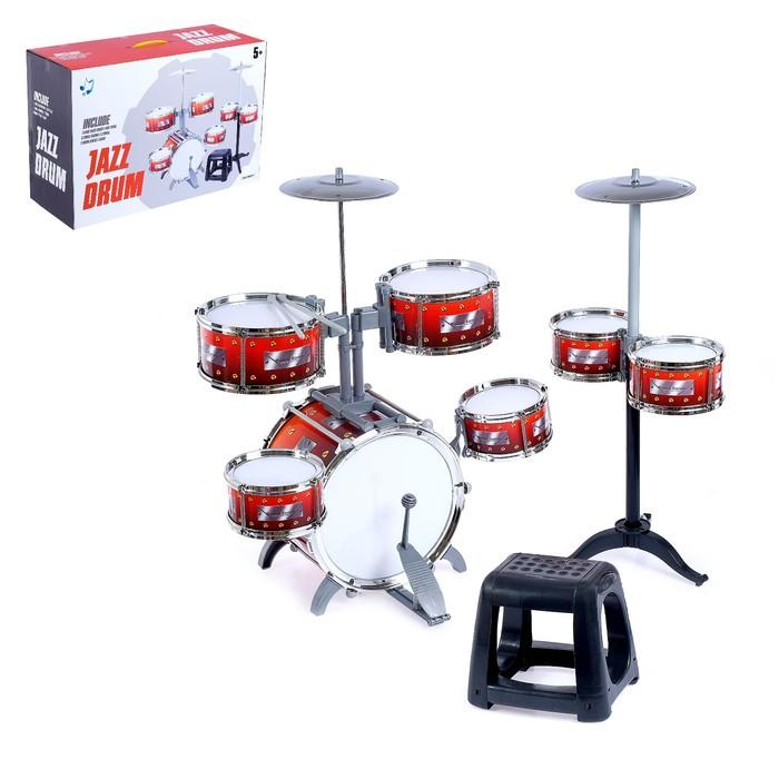 Барабанная установка «Настоящий барабанщик», со стульчиком