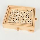 Деревянная игра «Лабиринт» (2 шарика) 26х30х7 см