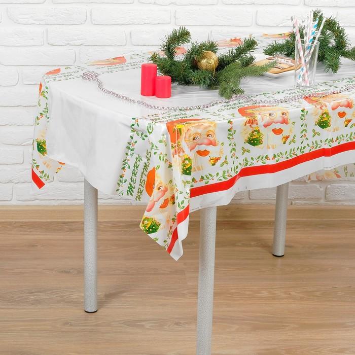 Скатерть Дед Мороз, 108х180 см