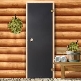 Дверь для бани и сауны стеклянная, 190×70см, 6мм, бронза Ош