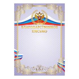Благодарственное письио 'Универсальное' символика РФ Ош