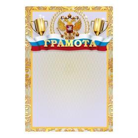Грамота 'Спортивная' символика РФ, кубки Ош