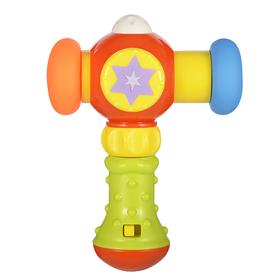 Развивающая игрушка «Сияющий молоточек», с музыкой и светом