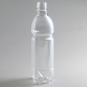 Бутылка 0,5 л, ПЭТ, прозрачная, без крышки Ош