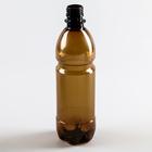 Бутылка 0,5 л, ПЭТ, коричневая ,без крышки
