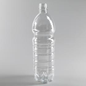 Бутылка 1 л, ПЭТ, прозрачная, без крышки Ош