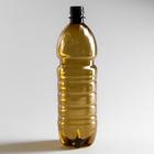 Бутылка одноразовая, 1 л, ПЭТ, без крышки, 100 шт/уп, цвет коричневый
