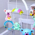 Мобиль музыкальный «Машинка. Мишки на кольце», заводной, наклейка МИКС - Фото 2