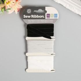 """Набор лент WRMK """"Sew Ribbon"""" - Цвет «Grey» 1,83 м"""