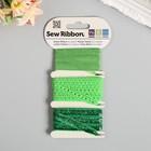 """Набор лент WRMK """"Sew Ribbon"""" - Цвет «Grass» 1,83 м"""