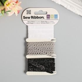 """Набор лент WRMK """"Sew Ribbon"""" - Цвет «Black» 1,83 м"""