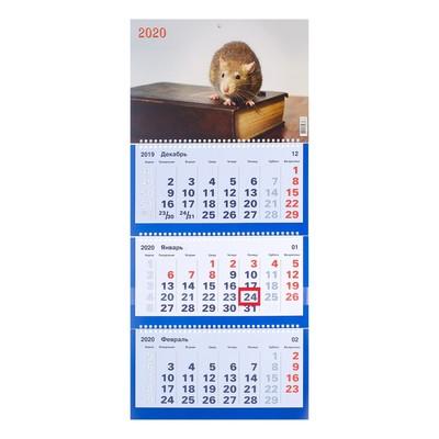 """Календарь квартальный, трио """"Символ года-9"""" 2020 год, 31 х 69 см"""