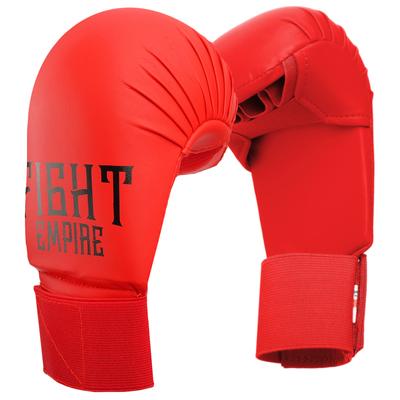 Перчатки для карате FIGHT EMPIRE, размер XL, цвет красный - Фото 1