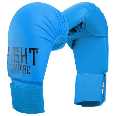 Перчатки для карате FIGHT EMPIRE, размер L, цвет синий - Фото 1