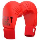 Перчатки для карате FIGHT EMPIRE, размер L, цвет красный