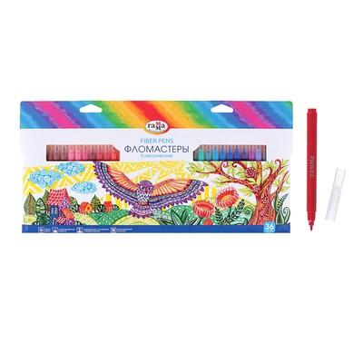 Фломастеры 36 цветов, «Гамма» «Классические», в картонной коробке - Фото 1