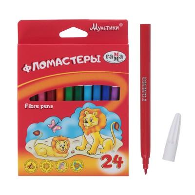Фломастеры 24 цвета, «Гамма» «Мультики», в картонной коробке - Фото 1