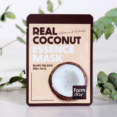 Тканевая маска для лица FarmStay, с экстрактом кокоса, 23 мл - Фото 1