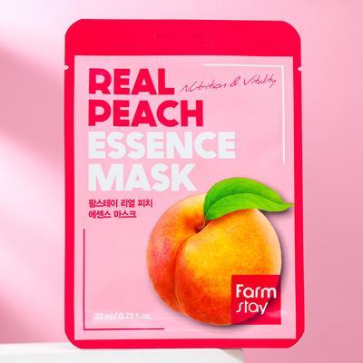 Тканевая маска для лица FarmStay, с экстрактом персика, 23 мл - Фото 1