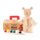 Деревянный набор «Собери медведя», с красками