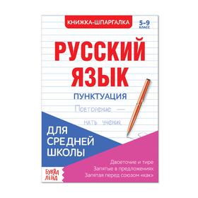 Шпаргалка для средней школы «Русский язык. Пунктуация», 8 стр. Ош