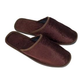 Тапочки мужские, цвет коричневый, размер 44-45 Ош