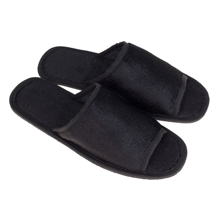 Тапочки мужские, цвет чёрный, размер 42-43